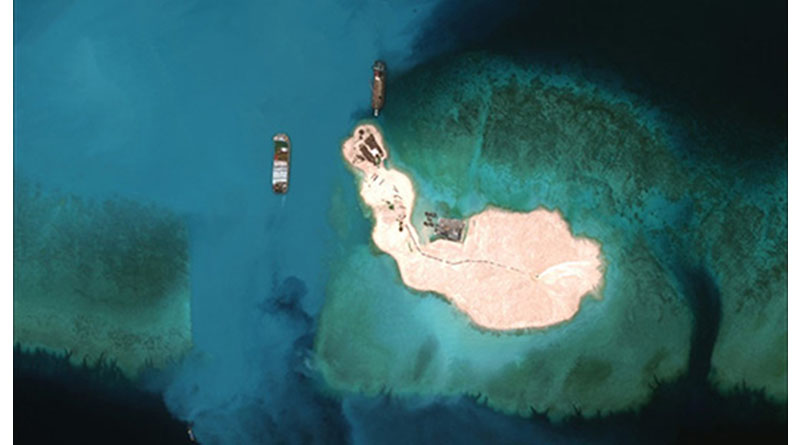 US Says Will Prevent China from Taking Over Territory in International Waters