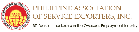 Philippine Association of Service Exporters, Inc. (PASEI).